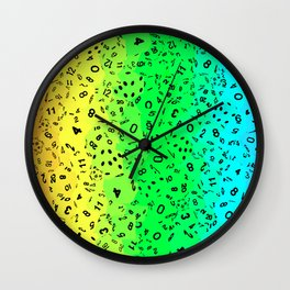 Rainbow Dice Wall Clock