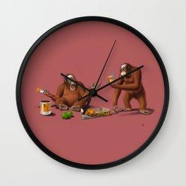 Orange Man (Colour) Wall Clock