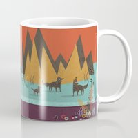 wolves Mugs featuring Wolves by Kakel