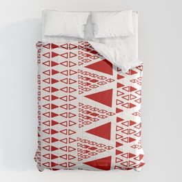 Zig Zag Pattern -  brick red Comforters