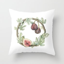 Fig Wreath Throw Pillow