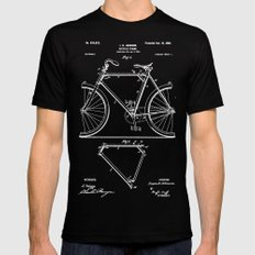 Bicycle Frame Patent Mens Fitted Tee Black MEDIUM