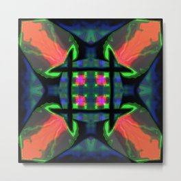Concentrate on the squares Metal Print