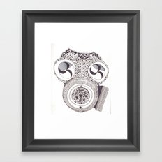 Celtic gasmask Framed Art Print