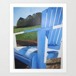 Adirondack Chair Acrylic Painting - Beach Decoration Art Print