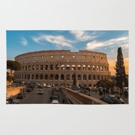 Coloseum at sunset Rug