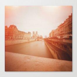 Our Lady + Seine Canvas Print