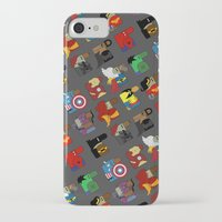 super heroes iPhone & iPod Cases featuring Super Heroes by nobleplatypus