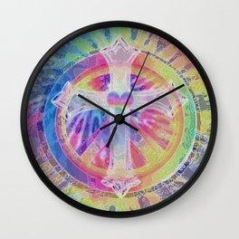 Tye Dye Cross Wall Clock