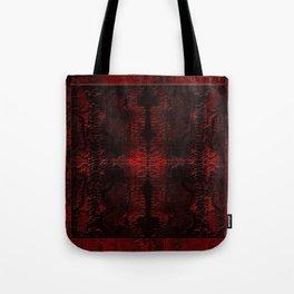 Snake Skin In Red Tote Bag