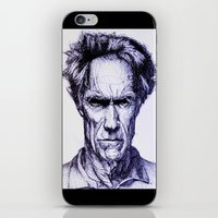 clint eastwood iPhone & iPod Skins featuring Clint Eastwood by Bronsolo