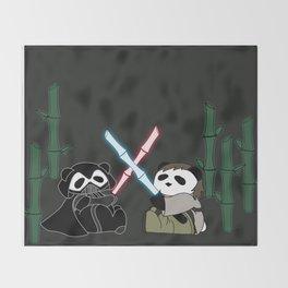 Panda Wars Throw Blanket