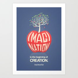Imagination Is The Beginning Of Creation- George Bernard Shaw Quote Art Print