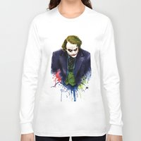 joker Long Sleeve T-shirts featuring Joker by Lyre Aloise