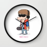 marty mcfly Wall Clocks featuring 1- Marty McFly - Back to the future by Jomp