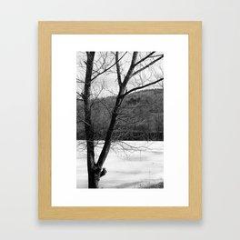 Frozen in Time (b/w) Framed Art Print