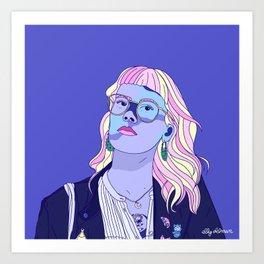 Cute pastel girl Art Print