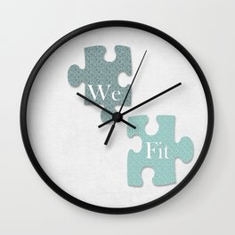We Fit Wall Clock