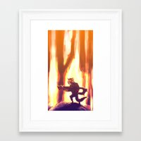 rocket raccoon Framed Art Prints featuring Rocket Raccoon by Mimi JJ