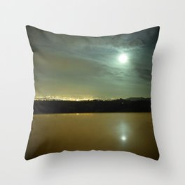 Lake Behind the City Throw Pillow
