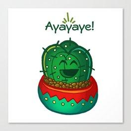 Ayayaye Cactus Tiny Canvas Print