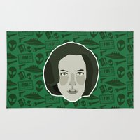scully Area & Throw Rugs featuring Dana Scully by Kuki