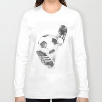 football Long Sleeve T-shirts featuring Football by Dianadia
