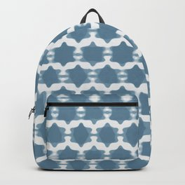 Hexagram Pattern: Blue Backpack