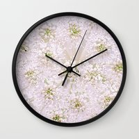 lace Wall Clocks featuring Lace by Jacky Parker Floral Art
