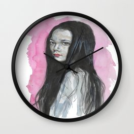 Innocent Chinese Girl Wall Clock