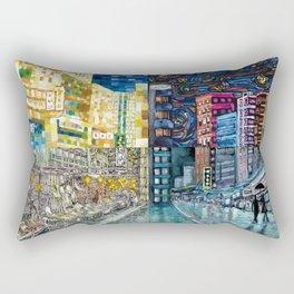Hong Kong Night Street-Jordan Rectangular Pillow