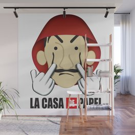 La casa de Papel Money Heist Fuck you Wall Mural