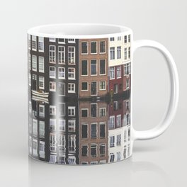 Typical Dutch houses built by the canal, Amsterdam, Netherlands photography Coffee Mug