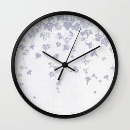 Soft Purple Trailing Ivy Leaf Print Wall Clock
