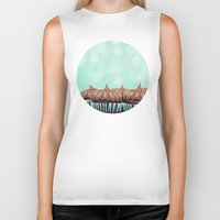 tooth Biker Tanks featuring Sweet Tooth  by Laura Ruth
