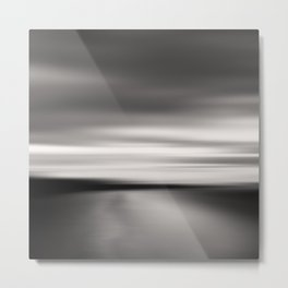 End of The Day - Beach abstract Metal Print