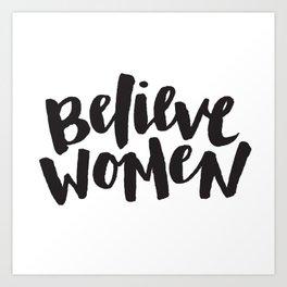 Believe Women Art Print