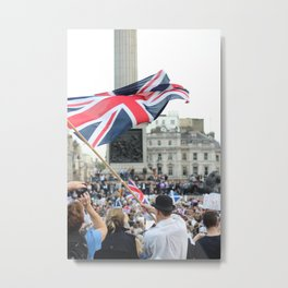 Rally in Trafalgar Square Metal Print