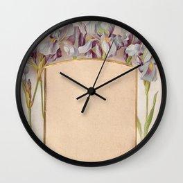Frame with Iris flowers  Wall Clock