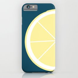 Modern Yellow Lemon Pattern iPhone Case