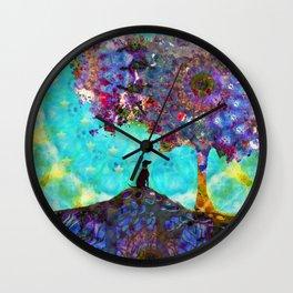 Tree Of Life Artwork - Dog Is Life - Sharon Cummings Wall Clock