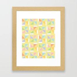 PINWHEELS - YELLOW Framed Art Print