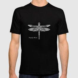 White Dragonfly Odonata T-shirt
