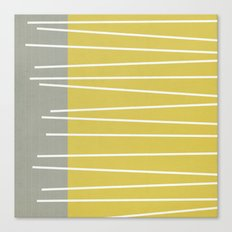MId century modern textured stripes Canvas Print