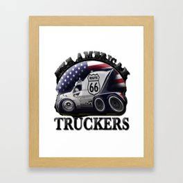 TRUCKERS-Cool Designs Framed Art Print