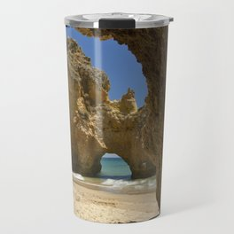 Caves at Alvor, Portugal Travel Mug