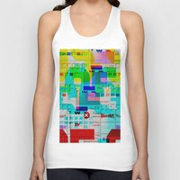 glitch Tank Tops featuring Glitch 002 by Karolis Butenas
