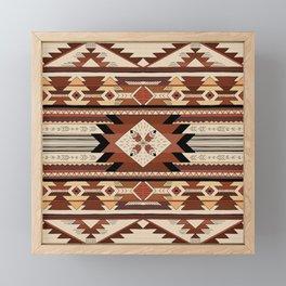 Native feather Framed Mini Art Print