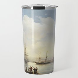 Russian squadron on the raid of Sevastopol by Ivan Aivazovsky Travel Mug