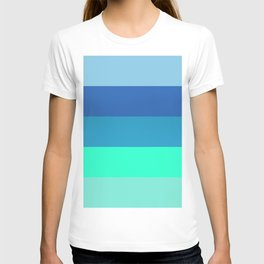 Summer strong geometric vertical graphic lines for home, office, beach house, farm house decoration T-shirt